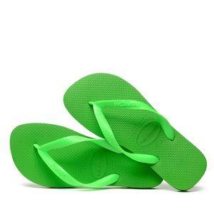 Neon Green Havaianas - Size 7/8